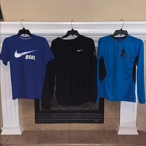 Lot of 3 Nike Baseball Shirts/Windbreaker